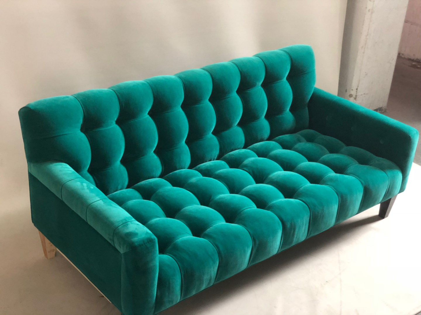 Dark Green Studio Couch